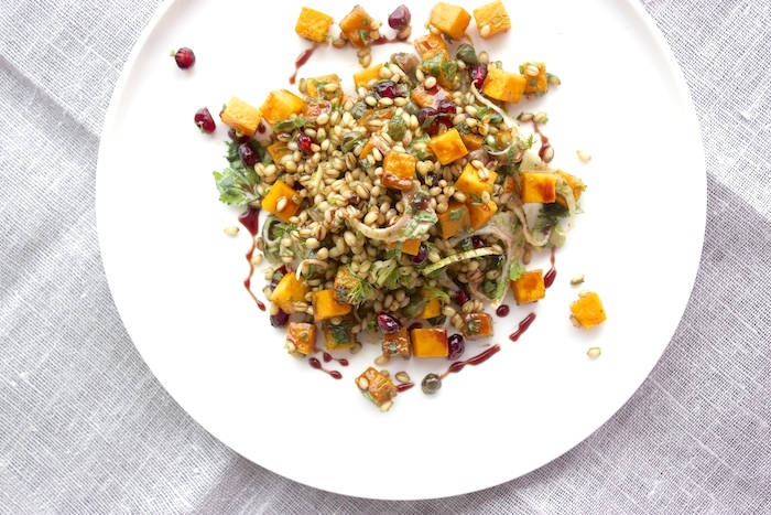 wheat-berry-squash-salad