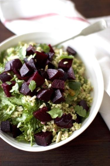 Roasted Beet Salad with Barley