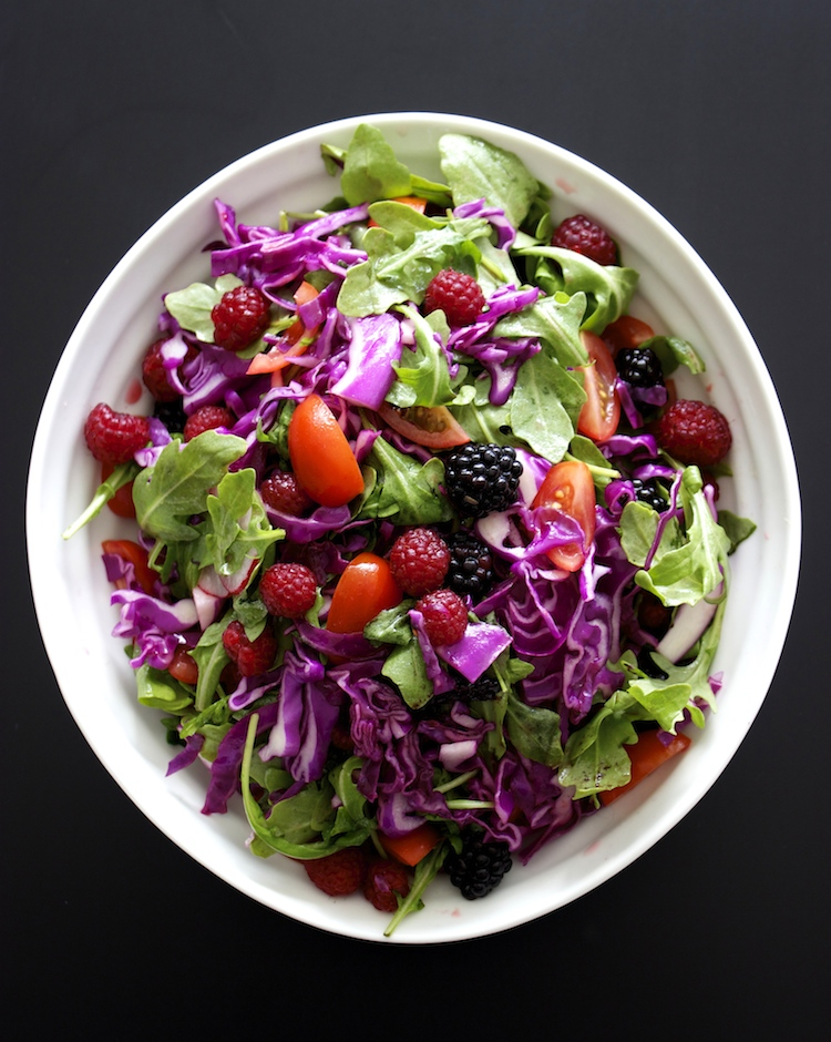 Red Cabbage Salad Soaking In The Colors Of India